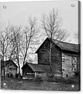 Old Barn In Monochrome Acrylic Print