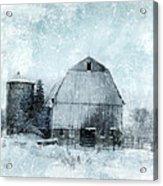 Old Barn In Winter Snow Acrylic Print