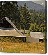 Old Barn On A Hot Summer Day In The Applegate Acrylic Print