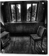 Old Black And White Tv Acrylic Print