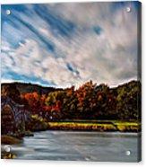 Old Bridge In The Fall Acrylic Print
