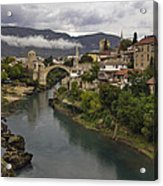 Old Bridge Of Mostar Acrylic Print by Ayhan Altun
