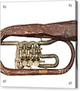Old Broken Trumpet - Isolated Acrylic Print