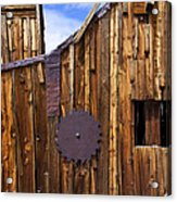 Old Building Bodie Ghost Town Acrylic Print by Garry Gay