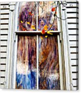 Old Carpenter Gothic Style Church Window In Wv Fall Acrylic Print