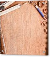 Old Carpentry Tools Acrylic Print