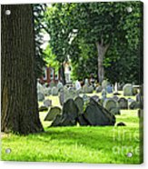Old Cemetery In Boston Acrylic Print