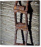 Old Chain And Barn Wood Acrylic Print