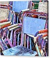 Old Chairs Acrylic Print
