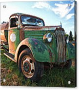 Old Chevy Tanker Truck Acrylic Print