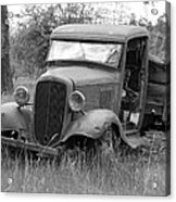 Old Chevy Truck Acrylic Print by Steve McKinzie