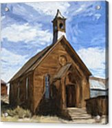 Old Church At Bodie Acrylic Print