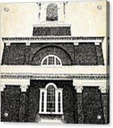 Old Church In Boston Acrylic Print