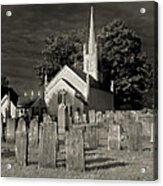 Old Church Yard Acrylic Print