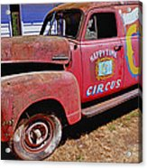 Old Circus Truck Acrylic Print by Garry Gay