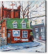 Old Corner Store Montreal By Prankearts Acrylic Print
