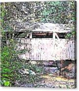 Old Covered Bridge Acrylic Print