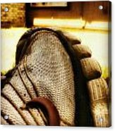 Old Dirty Sneaker Acrylic Print by Tony Ramos