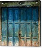 old door in China town Acrylic Print