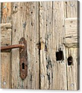 Old Door In Sebastia Acrylic Print