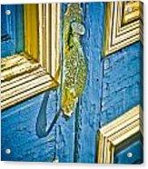 Old Door New Paint Acrylic Print