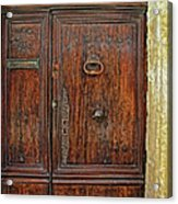 Old Door Study Provence France Acrylic Print
