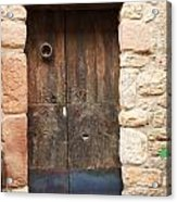 Old Door With Knocker Acrylic Print