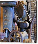 Old Drill Press Acrylic Print