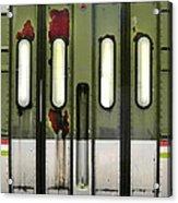 Old El Train Doors Acrylic Print