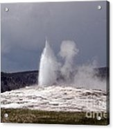 Old Faithful Letting Off Some Steam Acrylic Print