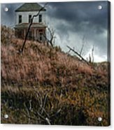 Old Farmhouse With Stormy Sky Acrylic Print