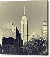 Old-fashioned Empire State Building Acrylic Print