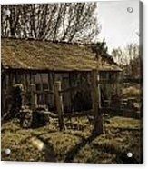 Old Fashioned Shed Acrylic Print by Dawn OConnor