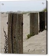 Old Fence Poles Acrylic Print