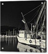 Old Fishing Boat At Texas Gulf Coast Acrylic Print
