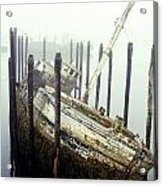 Old Fishing Boat No Longer In Use At Acrylic Print