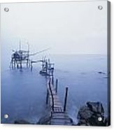 Old Fishing Platform At Dusk Acrylic Print