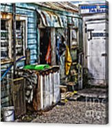 Old Fishing Store At Rawehe Acrylic Print