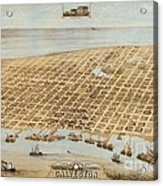 Old Galveston Map Acrylic Print