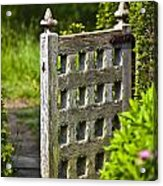 Old Garden Entrance Acrylic Print by Heiko Koehrer-Wagner