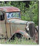 Abandoned Truck In Field Acrylic Print