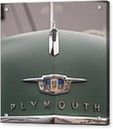 Old Green Plymouth Acrylic Print