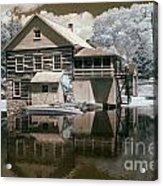 Old Grist Mill In Infrared Acrylic Print