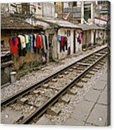 Old Hanoi By The Tracks Acrylic Print