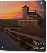 Old Harbor U.s. Life Saving Station Acrylic Print by Susan Candelario