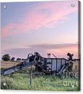 Old Harvester Sunset Acrylic Print