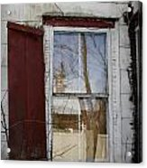 Old House Red Shutter 1 Acrylic Print