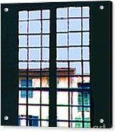 Old House Seen Through An Old Window Acrylic Print