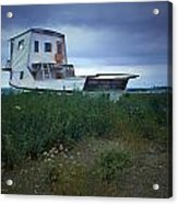 Old Houseboat On A Minnesota Shore On Lake Superior Acrylic Print