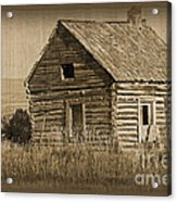 Old Hunting Cabin - Wyoming Acrylic Print by Donna Greene